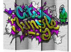 Paraván - City Jungle - graffiti II [Room Dividers]